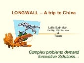 Longwall - China & India