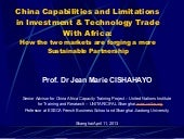 China-Africa Sustainable Trade Part...