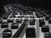 China Capitulates: Another Round of Auto Stimulus