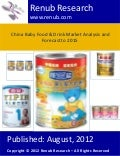 China baby food & nutrition market