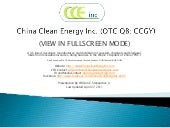 China Clean Energy Inc (for Faceboo...