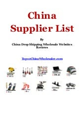 China drop shipping, suppliers and ...