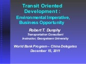 Transit Oriented Development : Env...