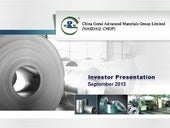 China Gerui Advanced Materials Group Ltd. video
