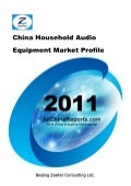 China household audio equipment market profile   sample pages