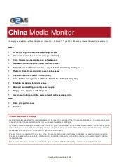 China Media Monitor (Issue 5, June ...