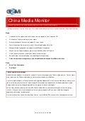 China Media Monitor (Issue 7, July 2009)