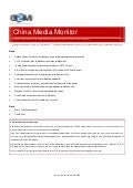 China Media Monitor (Issue 8, July 2009)