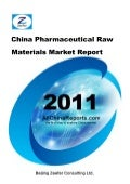 China pharmaceutical raw materials market report   sample pages
