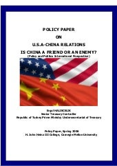 U.S.A-China Relations, Is China A F...