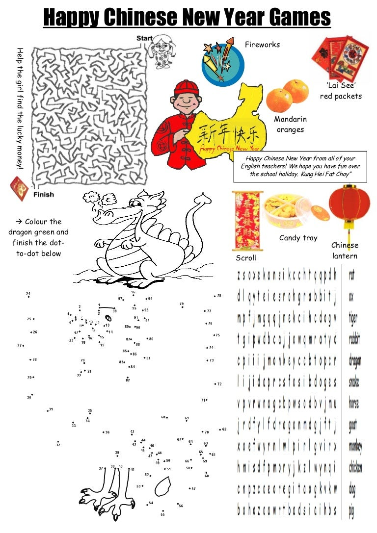 Worksheets Chinese New Year Worksheet toms tefl chinese new year 2012 worksheet