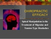 Chiropractic Efficacy For The Tream...