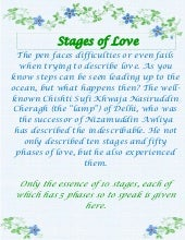 Chishti Stages Of Love