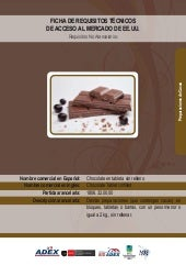 BID - Chocolate en tableta
