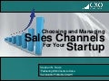 Business Development For Startups - Part 1 - Choosing and Managing Sales Channels for Your Startup - MassChallenge - 07122012