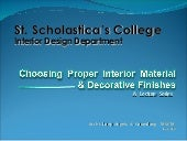 Choosing materials in interior desi...
