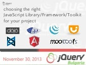 Choosing the best JavaScript framew...