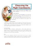 Choosing the right cookbooks