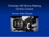 Christian Movie Making course - by ...