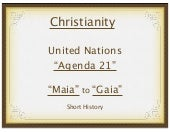 Christian persecution and Agenda 21...