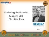 Christian Jorn:Exploding Profits with Modern SEO
