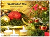 Christmas celebration   powerpoint template - templatesforpowerpoint.com