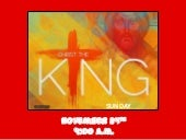 Christ the king 13 combined final