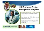 CHRODA HR Business Partner Program