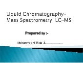 Chromatography lc ms