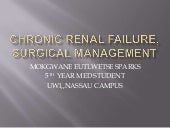 Chronic renal failure, surgical man...