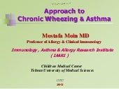 Approach to Chronic wheezing & asth...