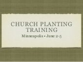Church Planting Training June 2010