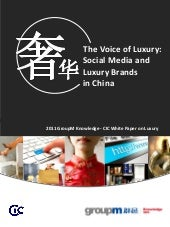 The Voice of Luxury: Social Media