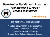 Developing Metaliterate Learners: ...