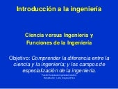 Ciencia vs ingenieria