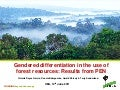 Gendered differentiation in the use of forest resources: Results from PEN