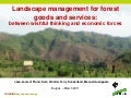 Landscape management for forest goods and services: 
