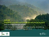 CIFOR: Stepping up to the new Global Development Agenda