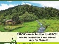 CIFOR's contribution to ASFCC: Results from Phase 1 and Plan of work for Phase 2