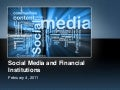 Social Media and Financial Institutions