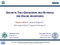 Semantic Tags Generation and Retrieval for Online Advertising - CIKM 2010
