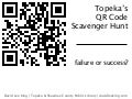Topeka's QR Code Scavenger Hunt: Failure or Success?