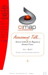 CIMAP Assessment Talk May 2012