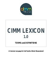CIMM Set Top Box (STB) Lexicon / Gl...
