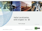 Cin india-localization sd-workshop
