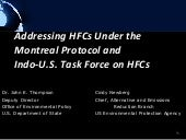 Addressing HFCs Under the Montreal ...