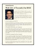 Web 2.0: A Necessity for DOJ - Andy Blumenthal