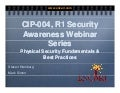 Cip 004, R1 Physical Security Awareness Webinar   10 23 09 Final Lipub