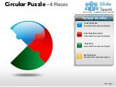 Circular puzzle 4 pieces powerpoint...