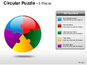 Circular puzzle 5 pieces powerpoint...